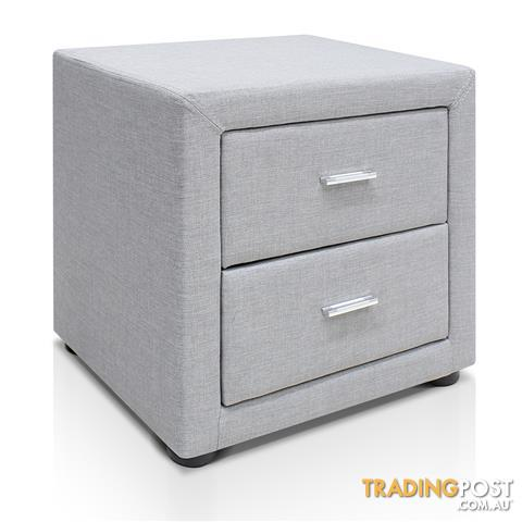 Fabric bedside table light grey for sale in sydney nsw fabric fabric bedside table light grey watchthetrailerfo