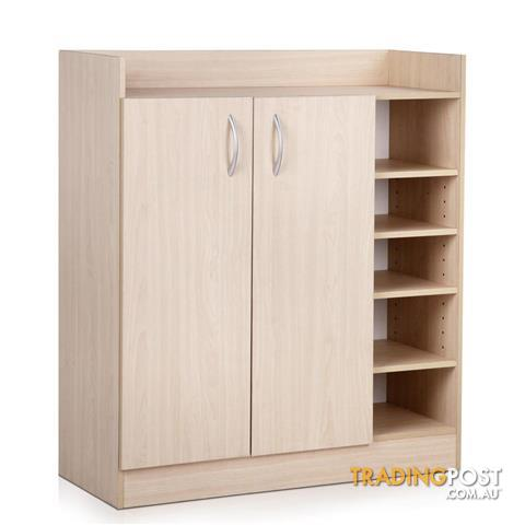2 Doors Shoe Cabinet 21 Pairs Rack Storage Shelf Cupboard ...
