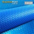 7.5m X 3.8m Outdoor Solar Swimming Pool Cover Winter 400 Micron Bubble Blanket