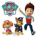 10 X Paw Patrol Wall Stickers - Totally Movable and Reusable
