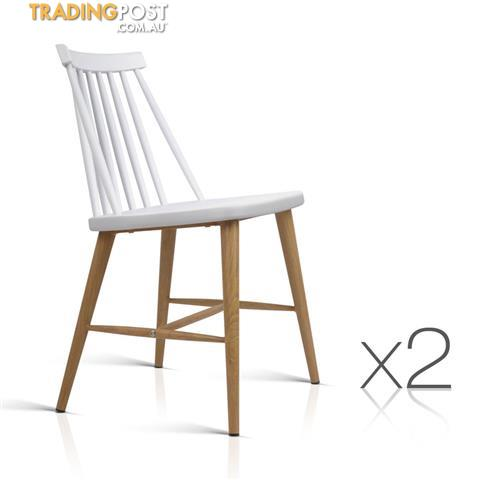 2 X Replica Windsor Dining Chairs Vintage Style Kitchen Bar Cafe Chair White