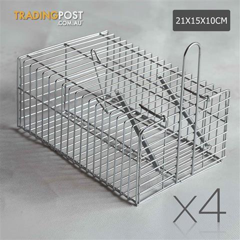 4-Safe-Humane-Mouse-Trap-Cage-Live-Catch-Animal-Rat-Mice-Pest-Control-Bait