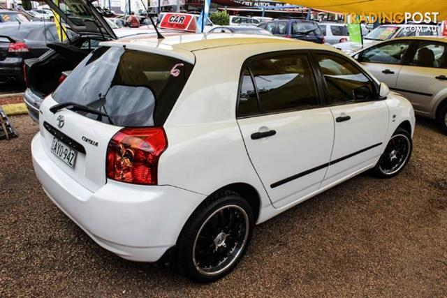 2004 toyota corolla ascent seca zze122r 5d hatchback for sale in minchinbury nsw 2004 toyota. Black Bedroom Furniture Sets. Home Design Ideas