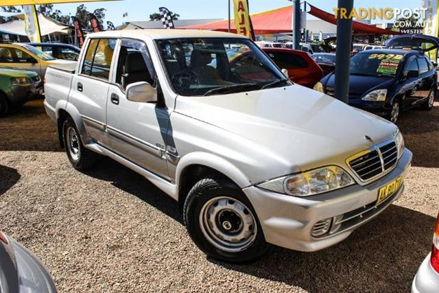 2006 SSANGYONG MUSSO SPORTS 4X4 DUAL CAB PUP