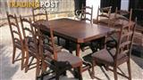 Dining Table & 8 Chairs Excellent Quality Refurbished Chairs