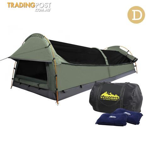 Double Camping Canvas Swag - Free Shipping