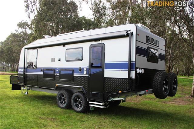 "Grand Salute Royal Guard - 22' Off Road caravan, Leather, Solar, 16"" Alloy wheels"