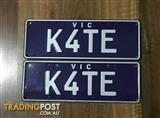 K4TE Victorian Number Plates