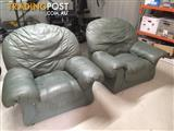 Leather Arm Chairs x2