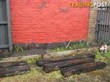 5  Railway wooden sleepers.