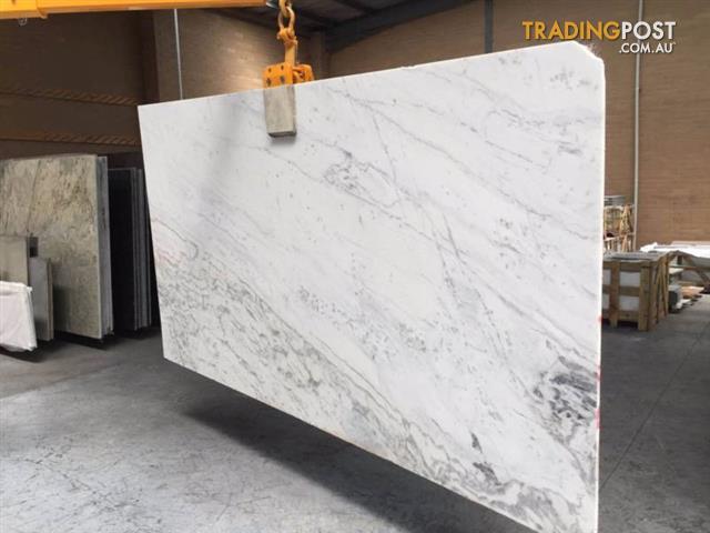 Carrara Marble Honed Slabs For Kitchen Benchtops