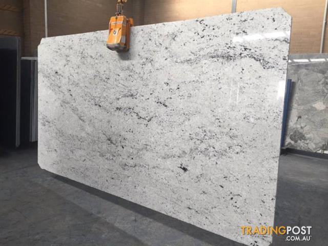 Premium Bianco Romano Granite Slab For Kitchen Benchtops