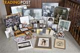 Large collection of picture and photo frames