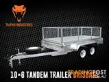 10x6 Tandem Box Trailer Hot Dipped Galvanized Welded Best Quality Brisbane Qld