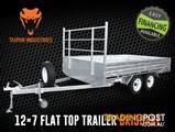 12x7 Tandem Trailer Flat Top Heavy Duty 3500KG ATM Hot Dip Gal Brisbane Qld