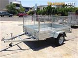 IceBear Box Trailer 8X5 Cage Trailer Hot Dip Galvanized+Jocky Wheel+Tilt 600mm High Cage