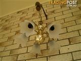 brass antique pendent lights