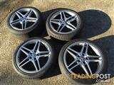 Mercedes AMG C63 Genuine 18 inch alloy wheels
