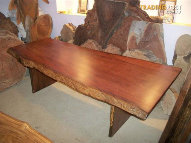 RIVER RED GUM hardwood timber slab dining table 24 mtrs NEW for