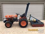 Kubota Tractor B6100 and Berends Slasher