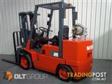 Nissan Forklift Compact CUGJ02F35U-3 stage container mast, sideshift, 3.5T, cushion tyres.