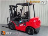 NEW JAC CD25 FORKLIFT - 3 Stage Container Mast, Sideshift, Diesel.