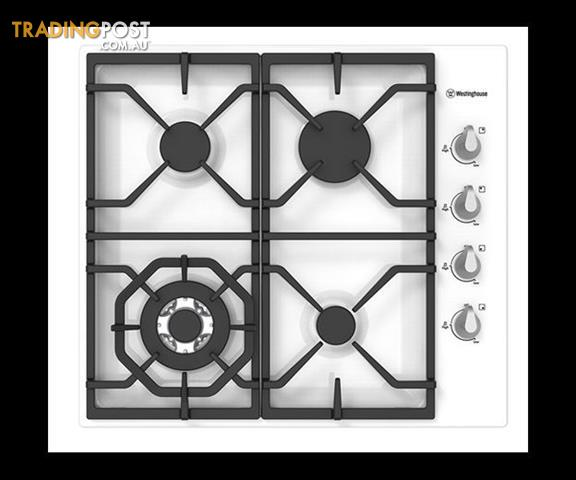 Westinghouse 60cm White Gas Cooktop, Wok, Cast Iron U2013 WHG645WA