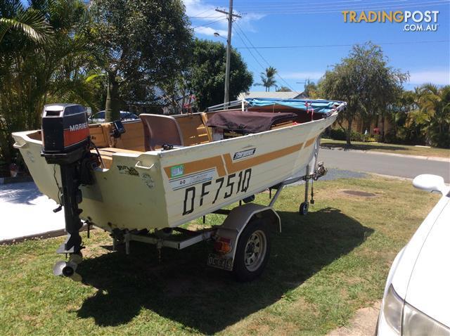 Quintrex aluminium boat 30 hp mariner and trailer
