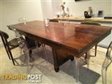 Wood Extendable Dining Table c1930s Art Deco