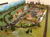 Model train set layout, HO scale