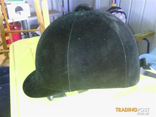 2 x  Velvet Riding helmets