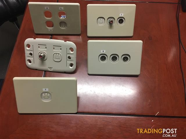 Slim line Clipsal Double Power Point ,GPO,Antenna,Cable- House Package