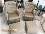 Real Retro, Rare Winged Back Recliners, circa 1960s, Excellent Original condition.