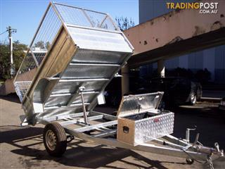 8x5  hydrolic tipping trailers