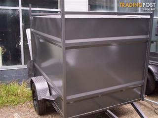 city-t 7x5x5 fully enclosed box trailer