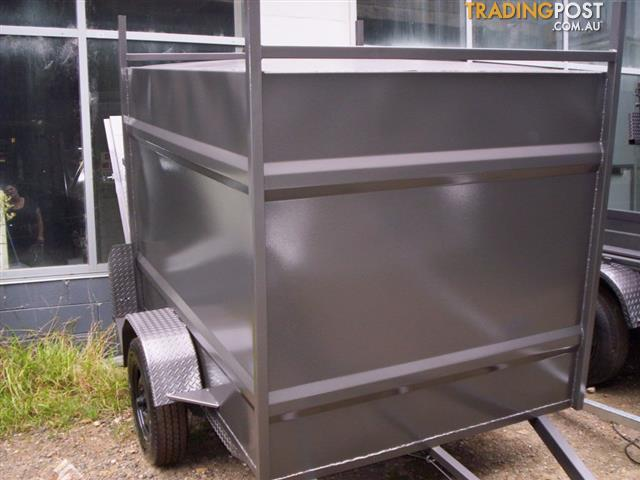 city-t 7x5x5 fully enclosed box trailer