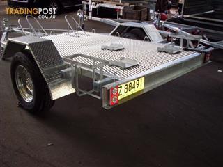 3 bike galvanised trailer