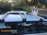 Rhino Vortex alloy roof bars and Rhino alloy roof tray