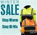 WINTER SALE!! NEW HI VIS JACKETS/JUMPERS FOR SALE!! COTTON DRILLS + POLOS