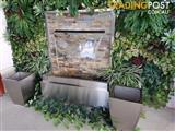 WATER FEATURE-STAINLESS STEEL STACKED STONE PROJECT 1200 mm X 1510 mm High
