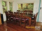 Early Settler Recollections Stoney Dining Table +10 chairs/Sorrento Ash Hardwood