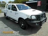 2011 Toyota Hilux Workmate (4x4) KUN26R MY12 Dual Cab Pick-up