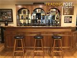 Bar with display cabinet, stools and bar fridge * price reduced *