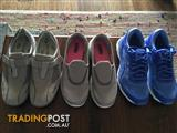 3 x pairs of as new shoes size 9.5