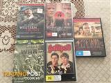 7 Military books & 5 war DVD's