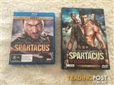 Spartacus season 1 on Bluray & Spartacus Vengence series on DVD