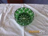 Bowl Green Crystal Diamond Cut 369476