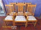 Chairs 6 Oak Jacobean Painted 366672