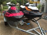 1x seadoo gtr 215, 1 seadoo spark with double trailer. both 3 seaters.