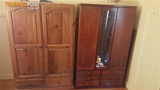 2 x Wooden Wardrobes